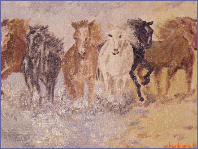 Chevauchée / Horse-ride - Création Krisontème.