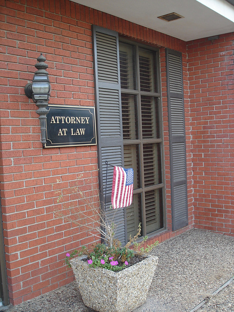 Attorney at law / Avocat de la loi - Bastrop, Louisiane. USA - 8 juillet 2010