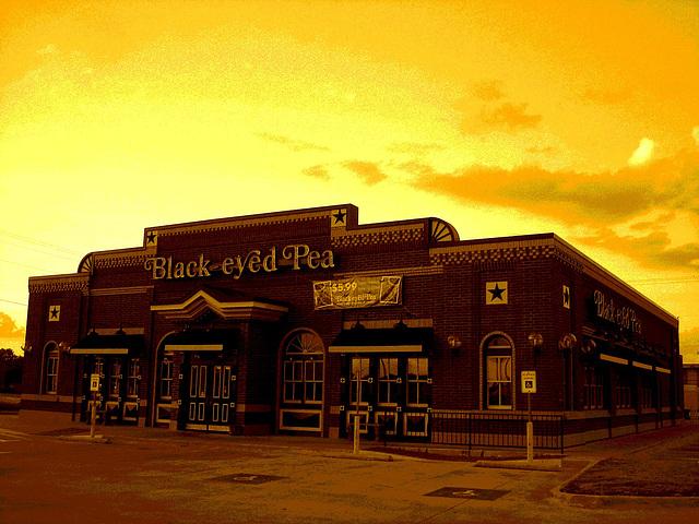 Black eyed pea restaurant / Hillsboro, Texas. USA - 28 juin 2010  - Sepia postérisé