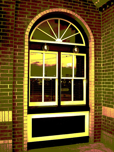 Black eyed pea restaurant / Hillsboro, Texas. USA - 28 juin 2010- Sepia postérisé