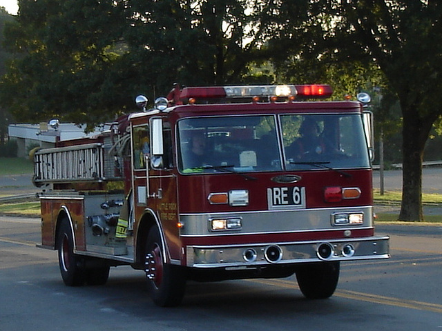 Camion de pompier / Firemen truck - Hillsboro, Texas. USA . 27 juin 2010