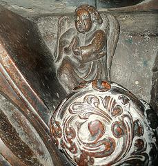 temple church tomb c13, angel