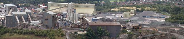 Bardon Hill Quarry plant panorama