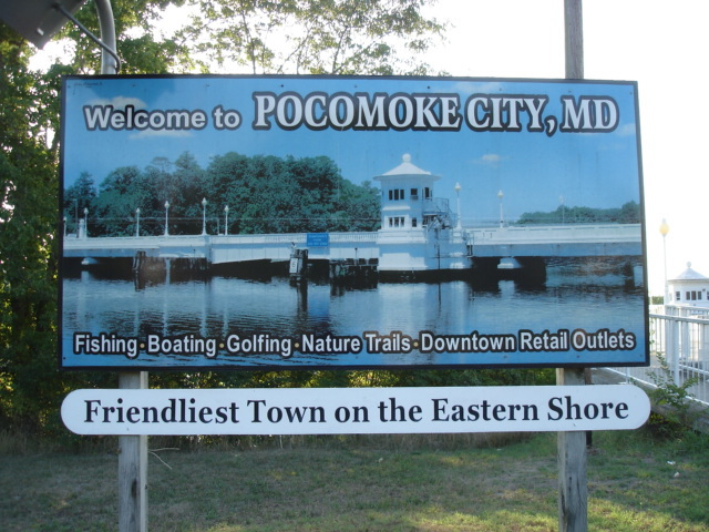 Welcome to Pocomoke city, MD /  Maryland, USA - 18 juillet 2010