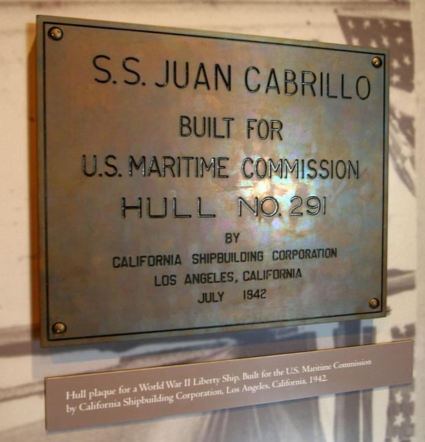 S.S. Juan Cabrillo Plaque (8043)