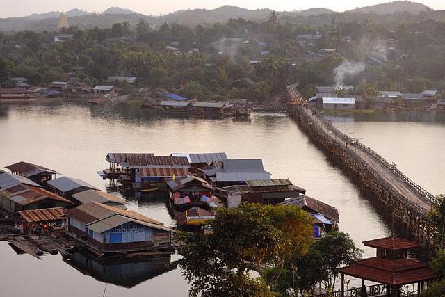 Bridge to Sangkhlaburi the city of the Mon people