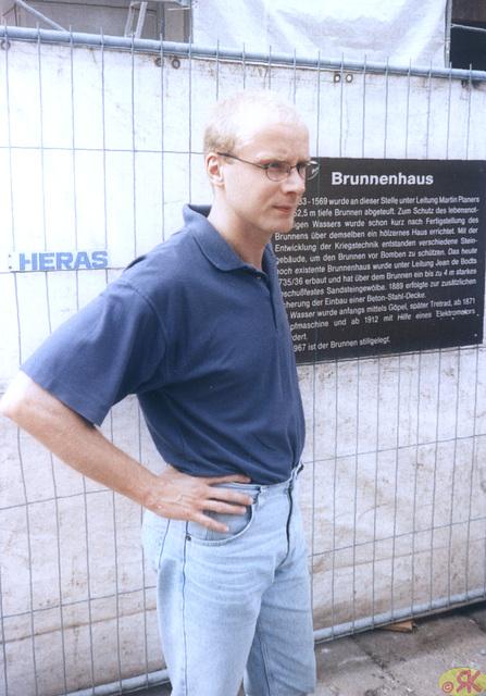 1997-08-17 03 Matthias en fortikaĵo Königstein