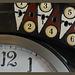 Detail of a time clock about 1900/Detail einer Stechuhr etwa um 1900