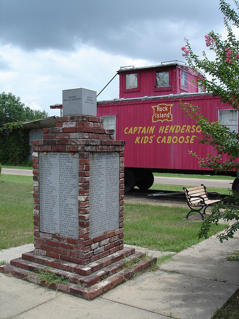 Captain Henderson kid's caboose - Bernice, Louisiana. USA - 7 juillet 2010