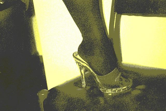 Mon amie / My friend Lady Roxy / Leopard mules - Vintage postérisé