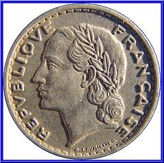5 Francs 1949 Avers