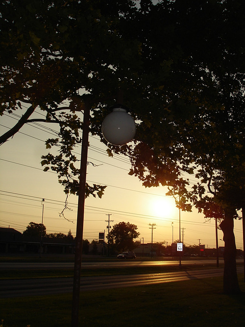 Lever de soleil / Sunrise -  Columbus, Ohio. 25 juin 2010. Sans flash