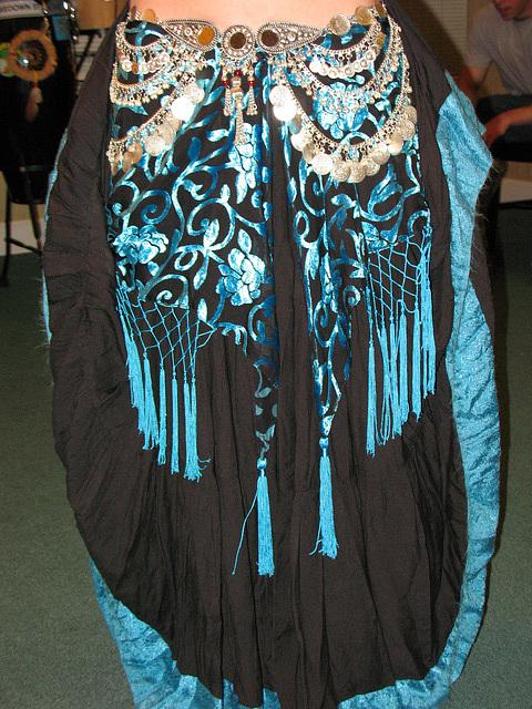 Black & turquoise..