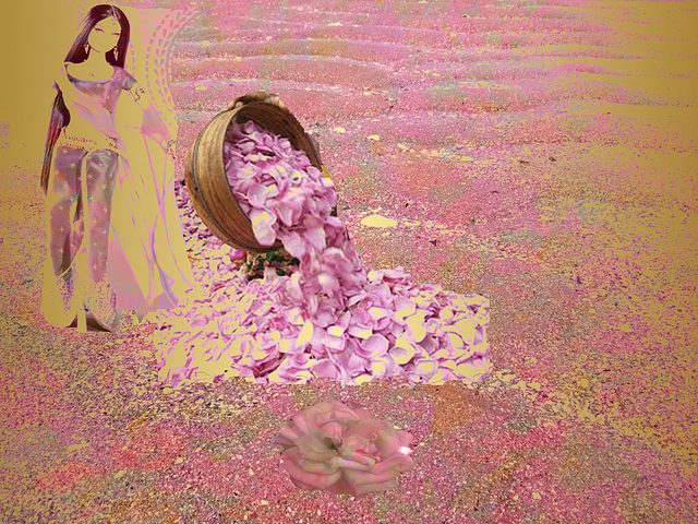 je ne vos offre pas mon coeur mais des pétales de roses