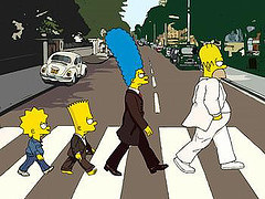 simpsons abby road