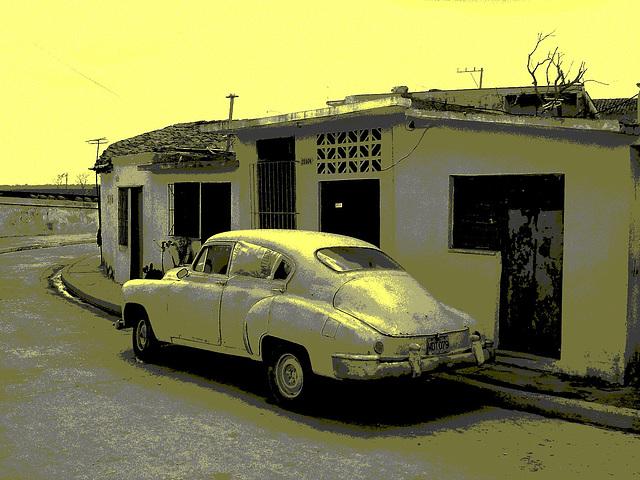 Matanzas, CUBA - 5 février 2010- Photo ancienne postérisée