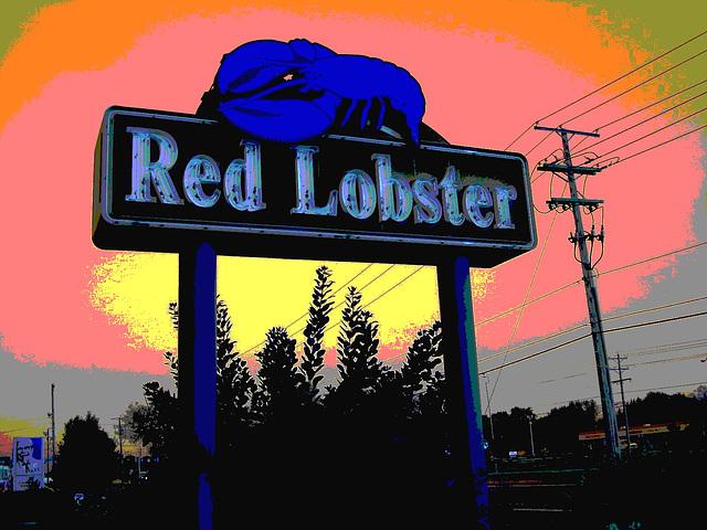 Red Lobster restaurant / Columbus, Ohio. USA. 25 juin 2010 - RVB postérisé