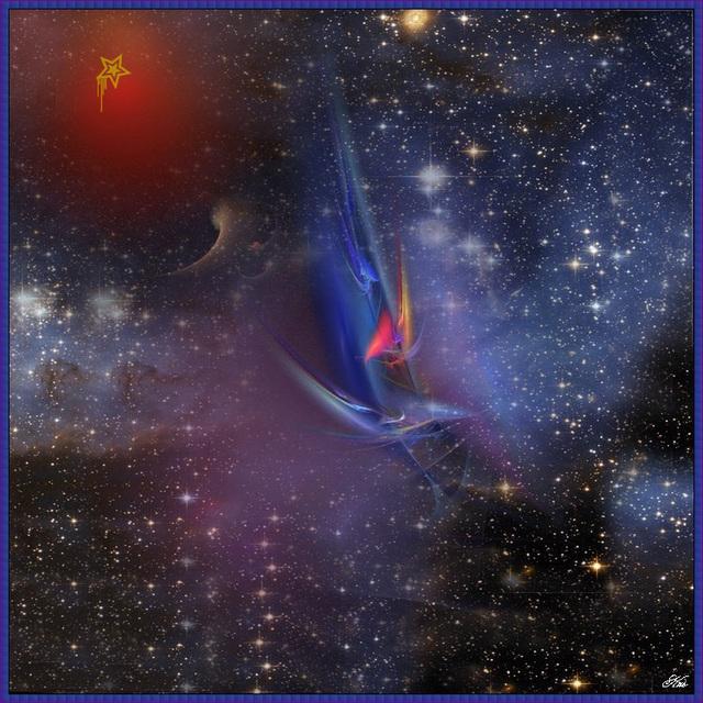 Comme une étoile au fond du soir, cherche un passage