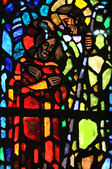 Dalle de verre de Gabriel Loire - Eglise de Couvains