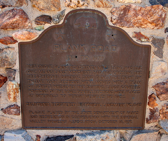 Plank Road Plaque (7990)