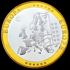 Euro commemorative coin.