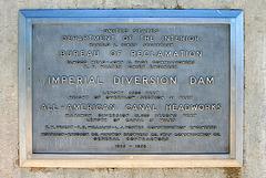 Imperial Dam Plaque (7995)