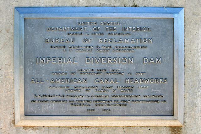Imperial Dam Plaque (7995)
