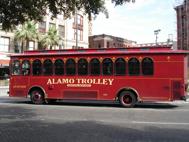 Alamo trolley / Trolleybus Alamo - San Antonio, Texas. USA - 29 juin 2010