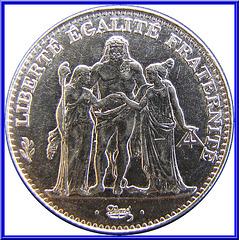 5 Francs Hercule 1996 Avers