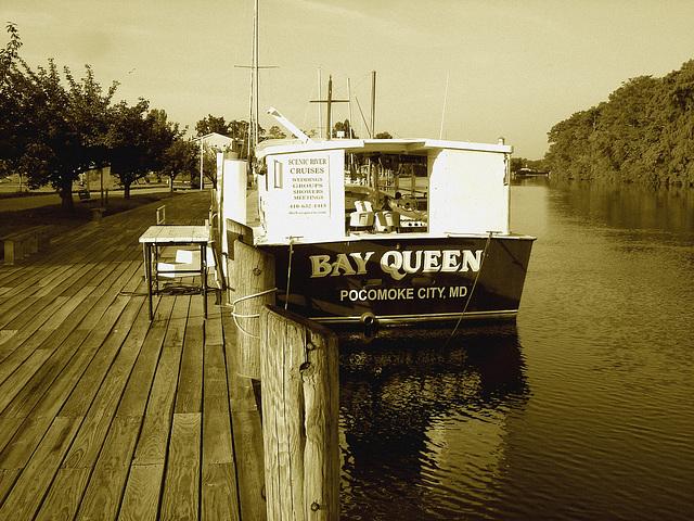 Bay Queen tourist boat / Pocomoke scenic river - Maryland, USA - 18 juillet 2010 - Sepia