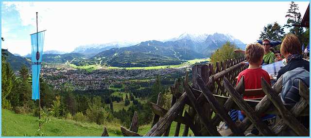 Panorama von der Sankt Martinshütte am Grasberg