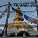 Bodhnath stupa and prayer flags