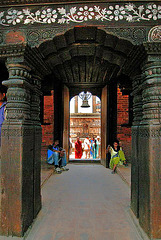 The door into Mani Keshar Chowk in Patan