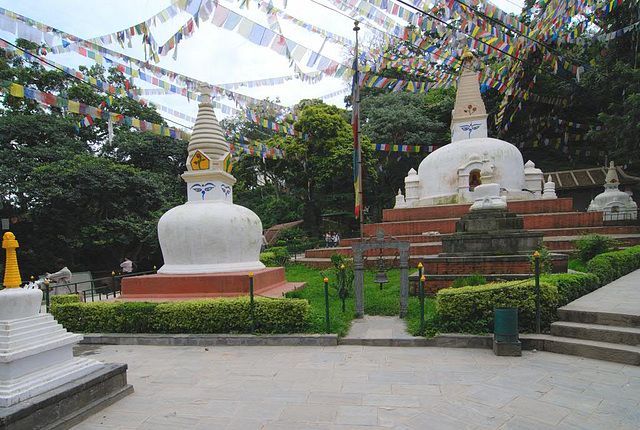 Western stairways to the Swayambhunath stupa
