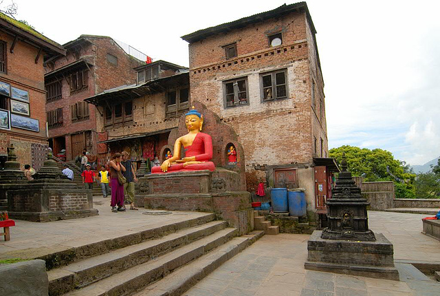 Stairway to the Swayambhunath stupa