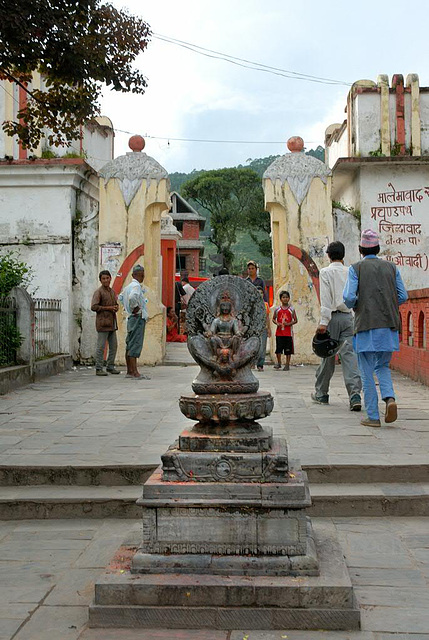 The entrance to the Budhanilkantha temple