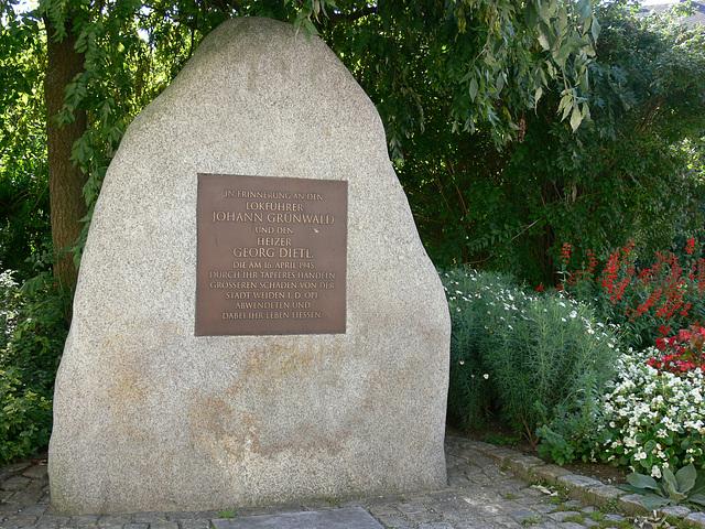 Weiden - Gedenkstein
