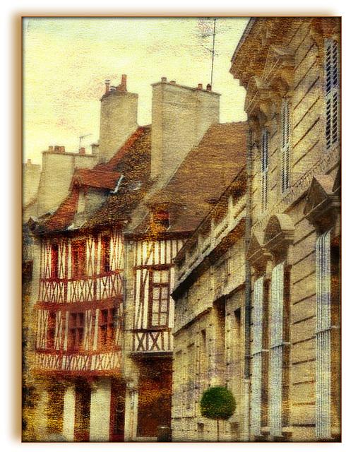 dans la vieille ville de Dijon