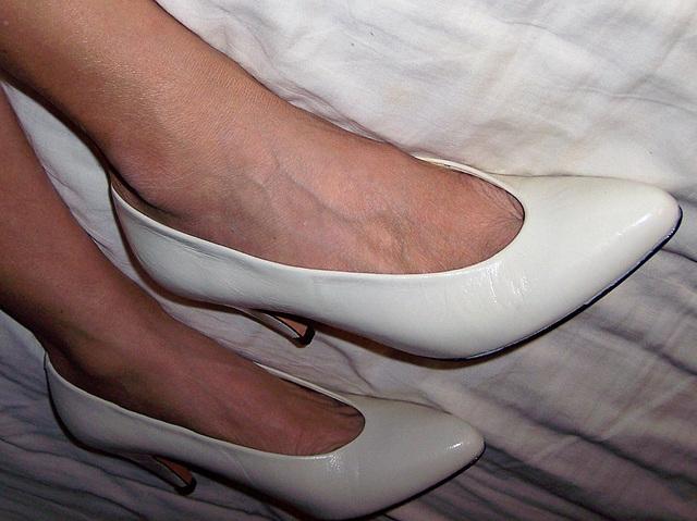 wife in evan picone heels