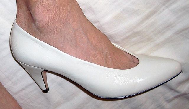 wife wearing picone heels
