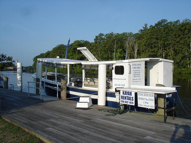 Bay Queen tourist boat / Pocomoke, Maryland. USA - 18 juillet 2010.