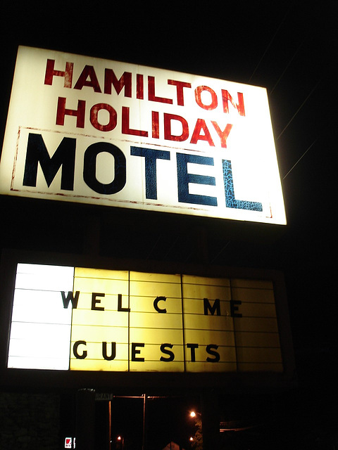 Hamilton holiday motel / Alabama. USA - 9 juillet 2010