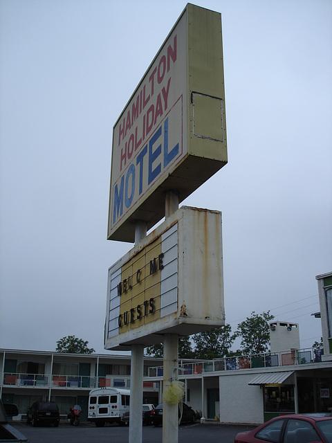 Hamilton holiday motel / Alabama. USA - 10 juillet 2010