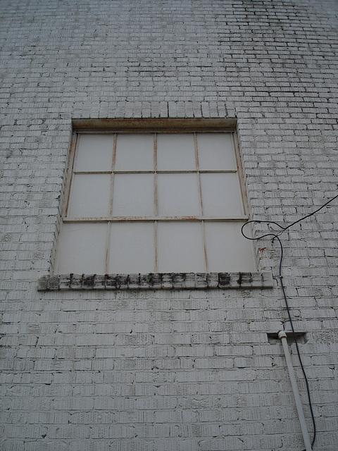Fenêtre opaque / Opaque window - Hamilton, Alabama. USA - 10 juillet 2010