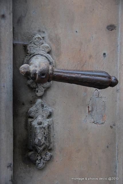 poignée de porte et serrure
