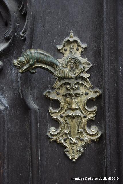 poignée de porte décorée