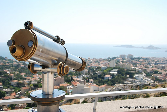 longue-vue sur Marseille