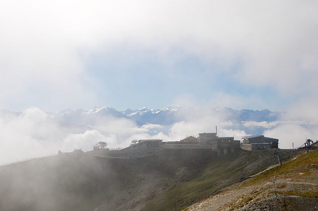 The 2nd ski-lift in the clouds
