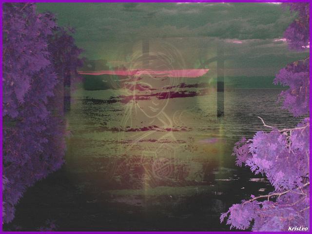 Coucher de soleil / Sunset - St-Jean-Port-Joli - Qc. CANADA. 21 Juillet 2005. - Compo LeoKris