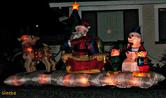 Neighborhood holiday display..